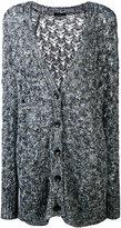 Roberto Collina v-neck long cardigan - women - Cotton/Linen/Flax/Viscose/Polyimide - L