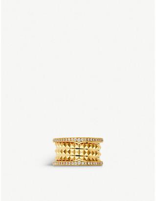 Bvlgari B.zero1 18ct yellow-gold and diamond pave ring