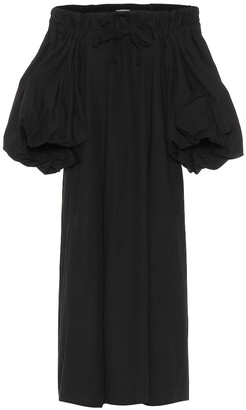 Dries Van Noten Off-shoulder cotton midi dress