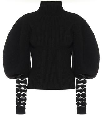 Loewe Ribbed knit alpaca and wool turtleneck sweater