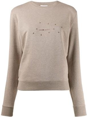 Saint Laurent Stars Logo Print Sweatshirt