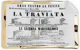 Fornasetti Locandina La Traviata Sheet Ashtray/Trinket Tray