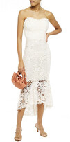 Thumbnail for your product : Maria Lucia Hohan Luri Strapless Lace-up Cotton Guipure Lace Midi Dress