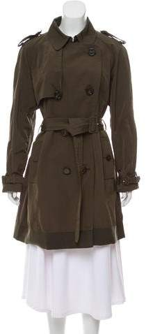 Moncler Double-Breasted Knee-Length Coat