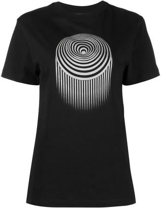 Marine Serre graphic print short-sleeved T-shirt