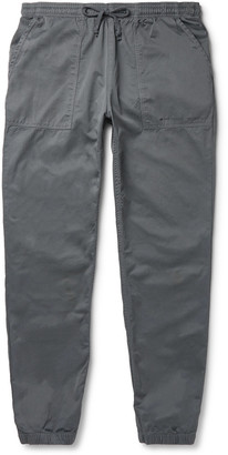 SAVE KHAKI UNITED + New Balance Grey Tapered Herringbone Cotton Drawstring Trousers