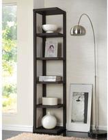 Acme Mileta 5-Shelf Bookcase in Cappuccino