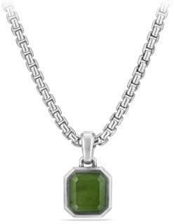 David Yurman Emerald-Cut Amulet with Jade