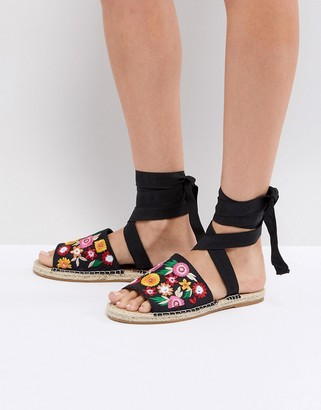Asos Design ASOS JAC Embroidery Espadrille Sandals