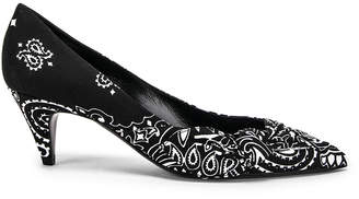 Saint Laurent Charlotte Bandana Heels in Black | FWRD