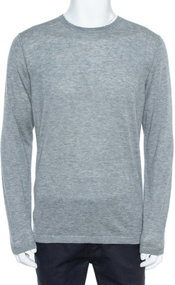 Loro Piana Grey Cashmere Crewneck Sweater L