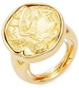 Kenneth Jay Lane Coin Emblem Ring