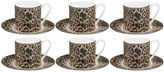Roberto Cavalli Jaguar Coffee Cups & Saucers - Set of 6