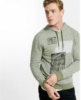 Express double knit graphic hoodie