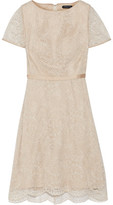 Catherine Deane Belle Satin-Trimmed Corded Lace Dress