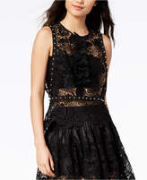Mare Mare Studded Sheer Lace Top