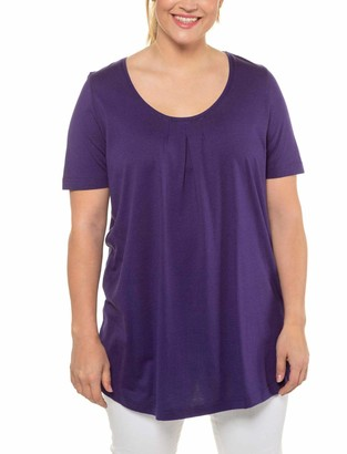 Ulla Popken Women's Nmfnandie Ls Knit Camp T-Shirt