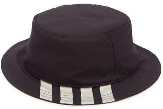 Thom Browne Four-bar Wool Bucket Hat - Navy