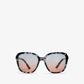 Prada 0PR 10VS (Dark Grey Havana/Blue Gradient/Orange) Fashion Sunglasses