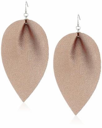 Panacea Women's Rose Metallic Leather Drop Earrings