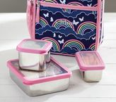 Pottery Barn Kids Navy Stainless Steel Classic Lunch Bag Food Storage Set