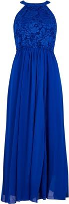 Wallis **Jolie Moi Royal Blue Lace Maxi Dress