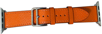 Hermã ̈S HermAs Apple Watch x HermAs Bracelet Orange Leather Watches