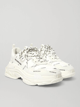 Balenciaga Triple S Logo-Print Faux Leather Sneakers