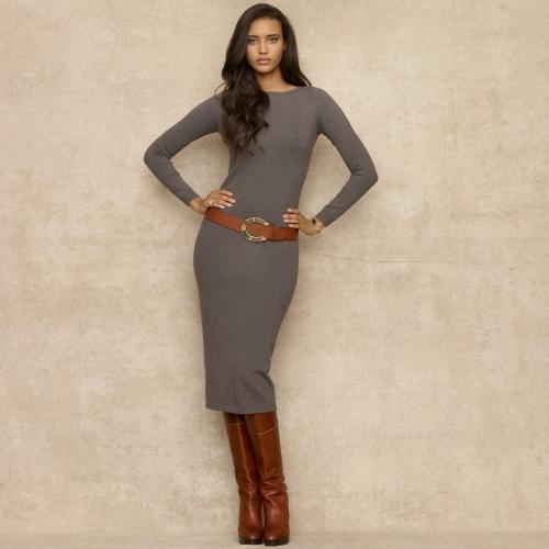 Ralph Lauren Blue Label V-Back Sweater Dress