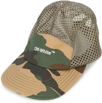 Off-White Logo Camouflage Baseball Cap