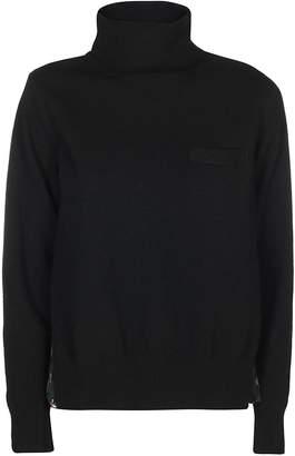 Sacai High Collar Sweater