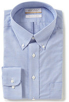 Roundtree & Yorke Gold Label Big & Tall Non-Iron Regular Full-Fit Button-Down Collar Gingham Dress Shirt