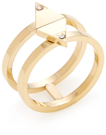 Rebecca Minkoff Triangle Double Band Ring