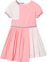 No Added Sugar Pink Colour Block Dress with Glitter Trims