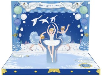Music Box Cards Musical Swan Lake Christmas Card