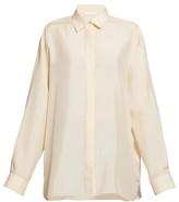 The Row Big Sisea Silk-habotai Shirt - Womens - Beige