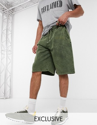 Reclaimed Vintage inspired co-ord sweat short in green