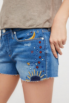 Free People Chain Toker Embroidered Short