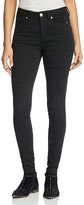 Free People Isabel Jacquard Peyton Jeans in Black