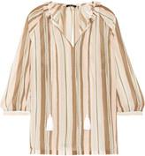 Raoul Fiorella ruffled striped chiffon blouse