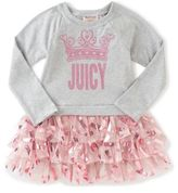 Juicy Couture Juicy CoutureTM Dress in Grey with Mesh Tutu Skirt
