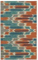 Leon Hand-tufted de Ikat Multi Wool Rug (5' x 7'9)