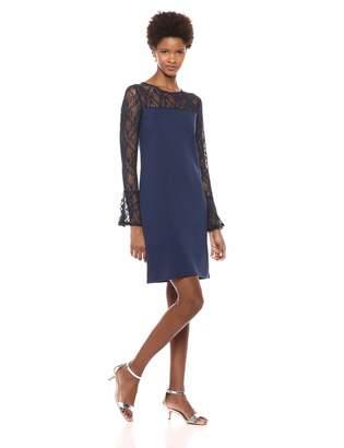 Bobeau Women's Apparel Women's LACE Detail Bell Sleeve Dress