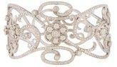 Penny Preville 18K Diamond Floral Lace Bangle