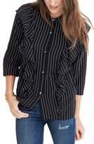 Madewell Women's Ruffle Silk Top