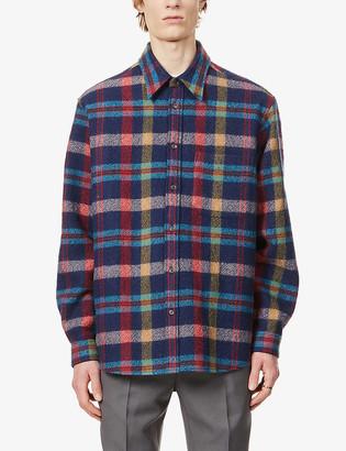 Gucci Check-print boxy-fit wool overshirt