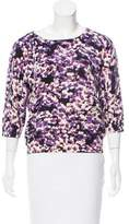 Magaschoni Printed Cashmere Sweater