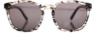 Linda Farrow X Alexander Wang Alexander Wang Clear Black Tortoise Shell Sunglasses