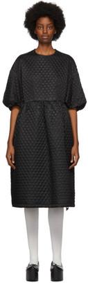Noir Kei Ninomiya Black Cupro Twill Quilted Dress