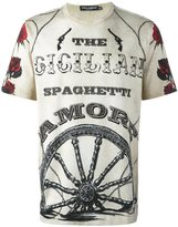 Dolce & Gabbana wheel print T-shirt